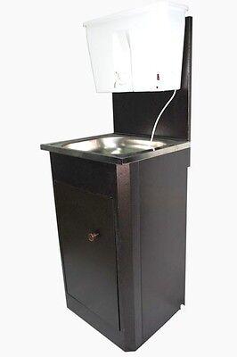 Mobiles Warmwasser Waschbecken Handwaschbecken Waschstation  Edelstahl
