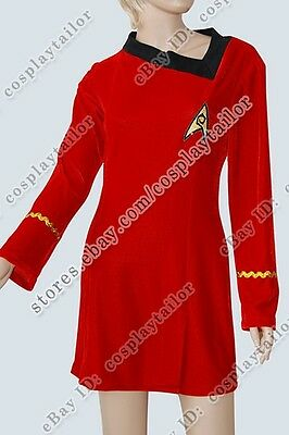 Star Trek TOS Engineering Uniform Costume Dress Comfortable to Wear Fit You