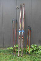 Vintage cross-country skis