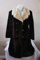 KAUFMAN FURS South Africa Fur Seal Coat with Mink Collar Women