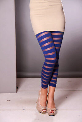 Sheer Striped Leggings (STRIPED SHEER MESH LEGGINGS ( 3)