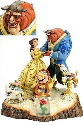 Disney Traditions Carved by Heart Beauty and the Beast Statue New