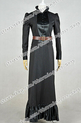 Who Purchases Doctor The Snowmen Jenny Flint Cosplay Costume Lady Uniform Dress ](Purchase Costumes)