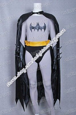 Bruce Wayne Cosplay Costume Outfit Jumpsuit With Cape Halloween Tailored