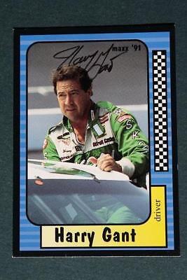 Nascar Driver Legend Harry Gant signed/autographed 1991 Maxx racing card-VINTAGE Driver Legend Signed