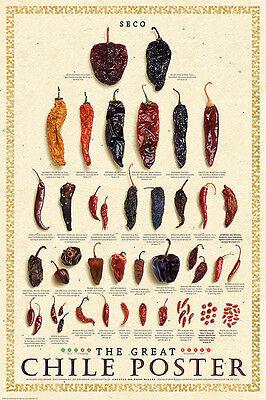 The Great Chile Poster - The Great Chile Poster Dried Mark Miller Kitchen Seco Pepper Food Poster Print