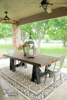 Brand New Pine Patio Dining Table. Delivery Included