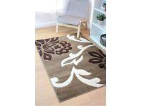 brand new 120cm x 170cm hand carved floret rug