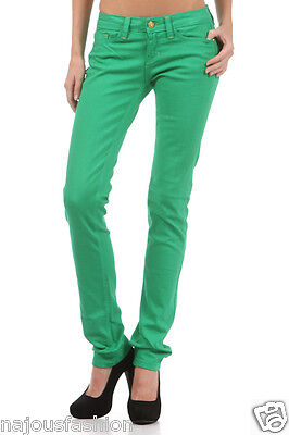 Nwt Watch La Skinny Denim Over Dye Stretch Jeans Colored Low Rise Pants Pockets
