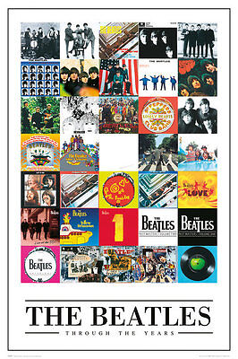 BEATLES - THROUGH THE YEARS POSTER 24x36 - MUSIC BAND ALBUM COLLAGE 50483