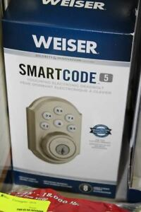 Weiser SmartCode 5 Satin Nickel Keyless Entry Deadbolt