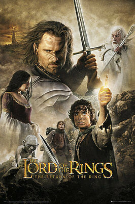 """THE LORD OF THE RINGS POSTER """"THE RETURN OF THE KING"""" LICENSED """"BRAND NEW"""""""