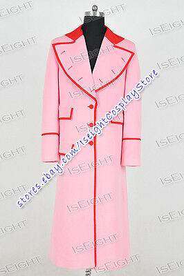 Costume Purchase (Who Purchase Doctor Cosplay Costume Pink Long Trench Coat Jacket Halloween)