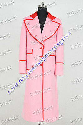 Who Purchase Doctor Cosplay Costume Pink Long Trench Coat Jacket Halloween New](Purchase Costumes)