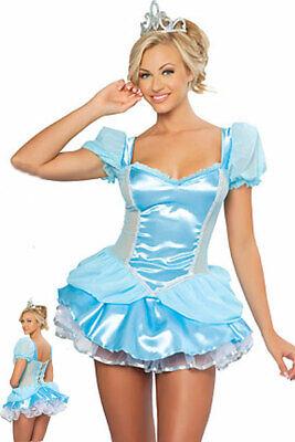 Women Sexy Blue Princess Fancy Dress Party Cosplay - Sexy Womens Fancy Dress
