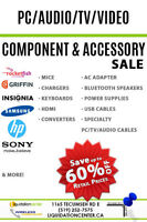 COMPONENT & ACCESSORY'S - TV/AUDIO/VIDEO/PC AND MORE...