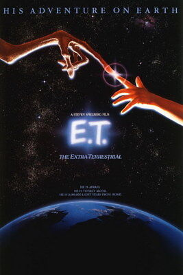 "002 ET - Steven Spielberg UFO Alien 1982 Classic Movie 24""x3"
