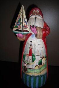 """Jim Shore,  """"A Ships Sails in Bearing Gifts"""" Santa"""