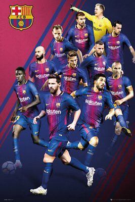 Barcelona   2018 Players Collage Poster 24X36   Fc Soccer Football Messi 34276