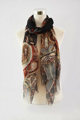 Scarf Pattern - New Style Paisley Leaf Pattern Scarf for Spring/Summer/Fall