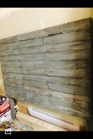 Queen Rustic headboard with gray/white washed finished