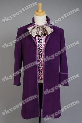 Charlie And Chocolate Factory Costume (Charlie And The Chocolate Factory Cosplay Willy Wonka Costume Purple)