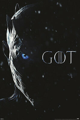 Game Of Thrones Night King Eye 24X36 Poster Got New Hbo Tv Series Show Season 7