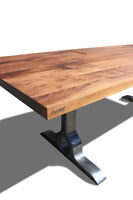 The Ultimate Locally Crafted Dining Table- Solid Walnut or Oak!