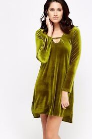 Brand new velveteen dress with tags