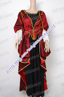 Pirates of the Caribbean Elizabeth Swann Cosplay Costume Dress Gown Halloween](Pirates Of The Caribbean Elizabeth Halloween Costume)