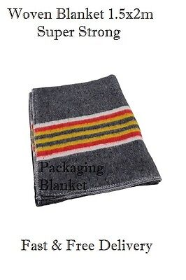 10 WOVEN Furniture Removal Packing Storage Transit Blankets 1.5x2m.SUPER STRONG