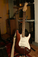 Upgraded Squier Strat Electric Guitar, including Hardcase