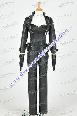 Green Arrow Cosplay Black Canary Sara Lance Costume Uniform Full Set - Black Canary Costume Arrow