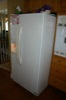 Side by Side Refrigerator & stove top, wall oven & dishwasher
