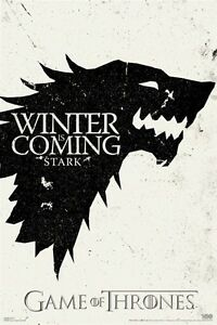 GAME OF THRONES POSTER ~ STARK CREST 24x36 TV Sigil Logo George R.R. Martin