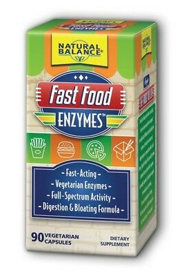 Foods Natural Enzymes - Fast Food Enzymes Natural Balance 90 Caps