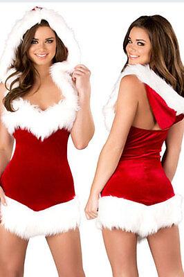 Weihnachtsfrau Kostüm  Miss Santa Kleid Weihnachtskostüm (Damen Miss Santa Kostüme)