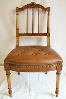 Chaise Victorienne Antique - Victorian Hand-Carved Slipper Chair