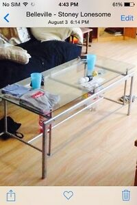 Glass coffee table $40