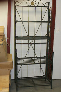 WROUGHT IRON FOLDING DISPLAY RACKS - GOOD QUALITY - VERY STURDY