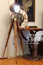 TRIPOD FLOOR LAMP Desk Lamps Brass Telescope Diving Helmet Clock Granville Parramatta Area Preview