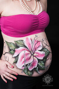 Belly Painting / maquillage bedaine Saint-Hyacinthe Québec image 4