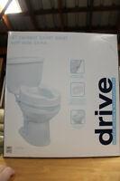 """Drive"" 4"" Raised Toilet Seat with Side Locks"