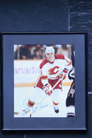 Framed Al MacInnis Autographed Photo Calgary Flames