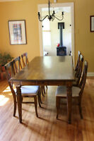 Four Hands - Dining Table + 6 sits Solid OAK
