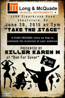 Take the Stage!!!!   A FREE Stage Presence Clinic - June 20!!