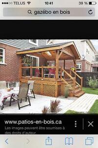 Pergola,gazébo pour spa ou terrasse RBQ:8100-9656-21 West Island Greater Montréal image 3