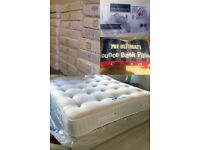BRAND NEW 2000 POCKET SPRUNG WITH MEMORY FOAM MATTRESSES FREE DELIVERY REAL LUXURY