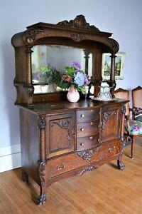 Antique Oak Sideboard Buffet - free delivery