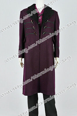 Who By Doctor Costume The 11th Dr Costume Purple Trench Coat Daily Wear Hot - 11th Doctor Costume Sale